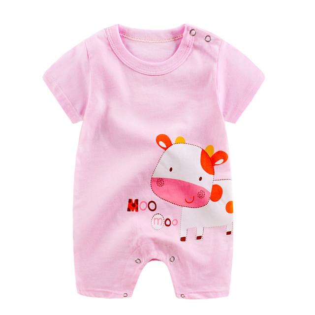 New Summer Casual Newborn Baby Boy Girl Cartoon Romper Jumpsuit