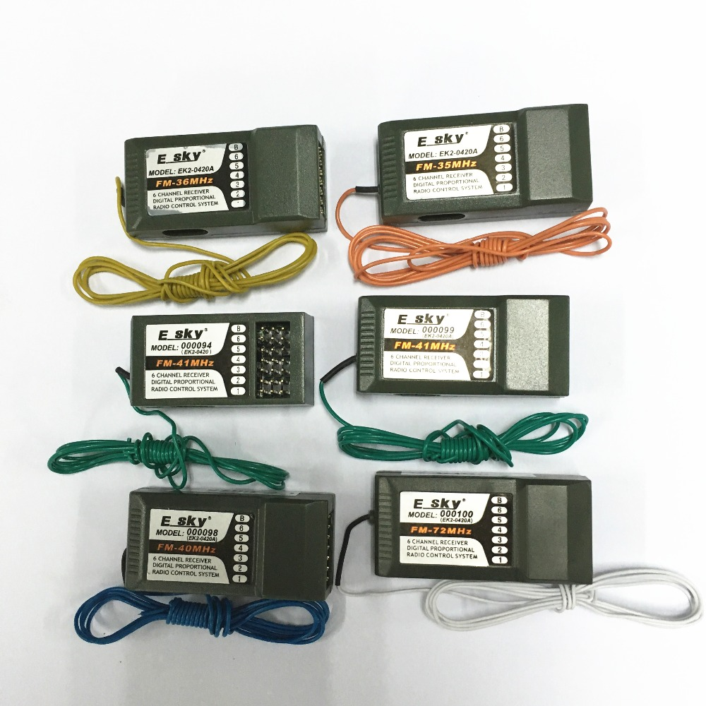Esky EK2-0420A 35MHZ 36MHZ <font><b>40MHZ</b></font> 41MHZ 72MHZ 6CH FM Receiver without crystal for RC helicopte image