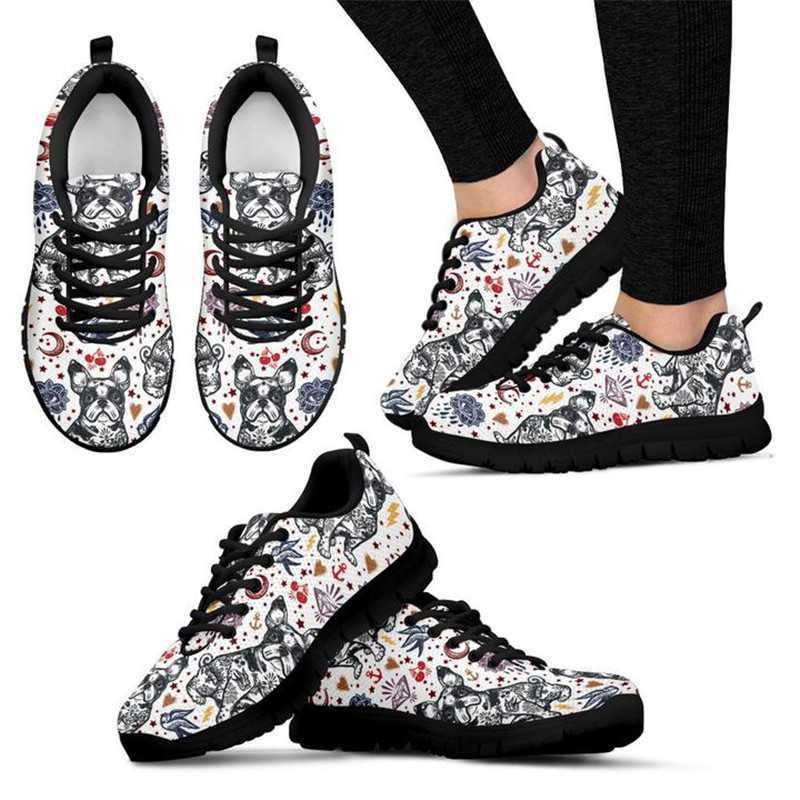 INSTANTARTS 2018 NEW Womens Running Shoes Cute French Bulldog Sneakers Women Outdoor Female Girl Sports Shoes zapatillas mujer ...