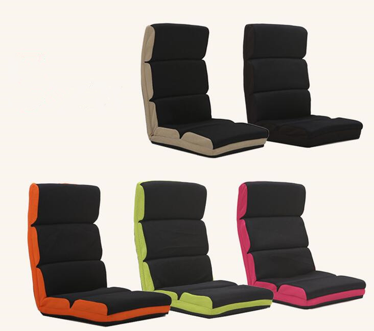Adjustable Floor Chair Folding Couch Sofa Six-position Multiangle Lazy Chair Soft Cushion Tatami Foldable Recliner Lounge Chair high quality folding sofa bed living room furniture lounge chair lazy sofa relaxing window corner sofa folding floor chair