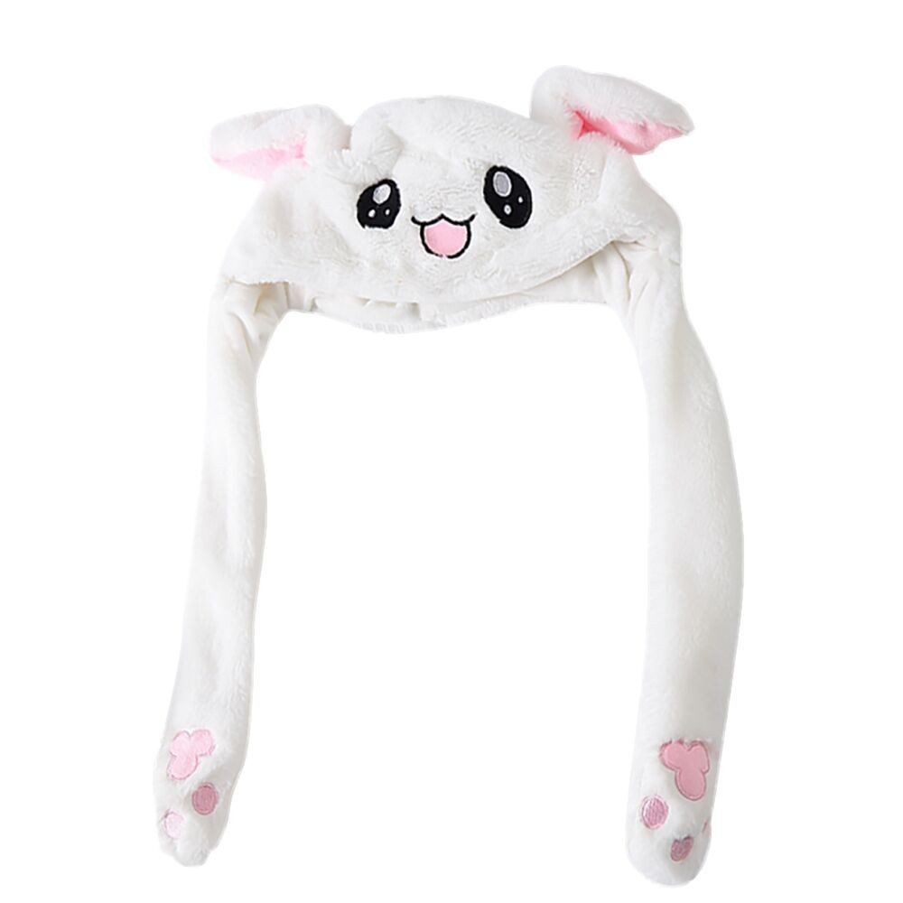Girl's Hats Adult Child Unisex Winter Warm Fluffy Plush Hat Cute Moving Airbag Magnet Rabbit Ears Hat Warmer Party Dance Toy Photo Props Wi
