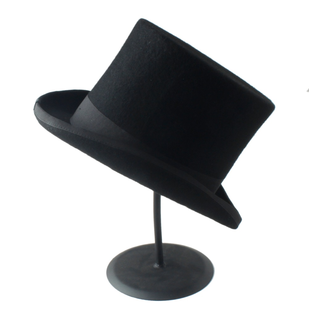 29571262 17CM(6.7inch) Steampunk /Top Hat / Victorian Vintage Traditional Wool  Fedoras Hat / Cylinder Hat/ Chimney Pot Hat - Steampunk Allure