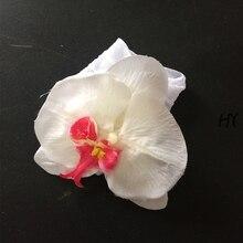 1 Pcs/lot Fashion Artificial Orchid Flower Elastic Headbands Children Hairband Headbows Hair Accessories