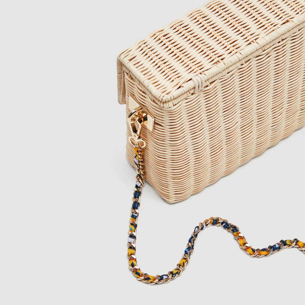 exquisiteness palha mensageiro saco tecido doce pastoral rattan