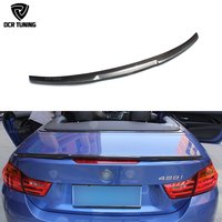 For BMW F33 Convertible 4 Series 420i 428i 435i M4 Style F83 M4 Carbon Fiber Rear Trunk Spoiler 2014 2015 2016 UP F33 spoiler