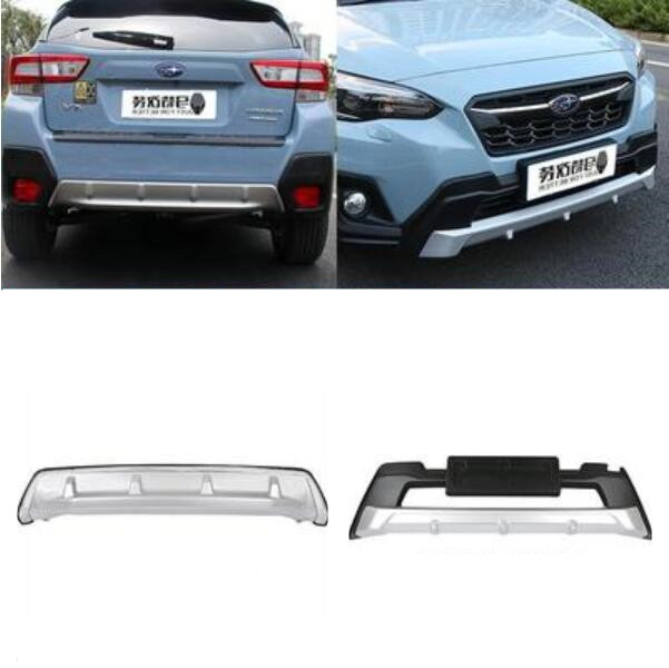 US $117 79 38% OFF|Car ABS Chrome Front+Rear Bumpers Spoiler Lip Protector  Guard Skid Plate Fits For Subaru XV 2018 2019 2020-in Bumpers from