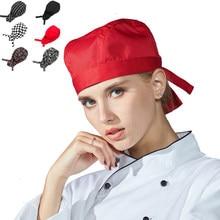 Unisex hombres mujeres gorro de Chef cocina Baker tapas elástica ajustable  camarero trabajo del restaurante de 4b56d4b416b