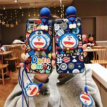 Mate 20 Cute 3D Doraemon Case Back cover for Huawei Mate 20pro /Nova 4/3/3i/3E/Honor 8X Cartoon 3D Bear case + stander +strap(China)