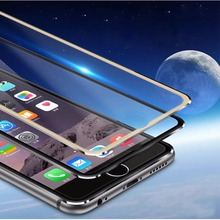 Cyato Luxury alloy case For iphone 7 for iPhone 6S Plus 5 5S SE Full screen Protector cover 6 Tempered Glass Film