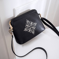 New Printing Shell Vintage PU Leather Female S Rivet Larger Women Bags Hair Ball Shoulder Bag