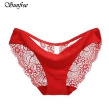 S-2XL!Hot sale! l women's sexy lace panties seamless cotton breathable panty Hollow briefs Plus Size girls underwear #LK4355
