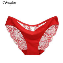 06eda254d1ea Hot sale! l women's sexy lace panties seamless cotton breathable panty