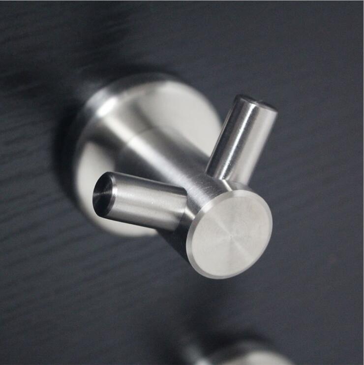 Acabamento escovado SUS 304 Aço Inoxidável Hardware Banheiro Gancho Da Parede Chapéu Roupas Gancho de Toalha Acessórios Do Banheiro Gancho da Veste