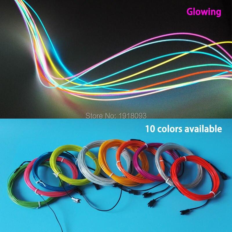 10 Цвета выбор 1.3 мм 1-25 м el Провода трубки гибкие Светодиодные ленты для легких-Up Craft модели, сумки, украшения ...