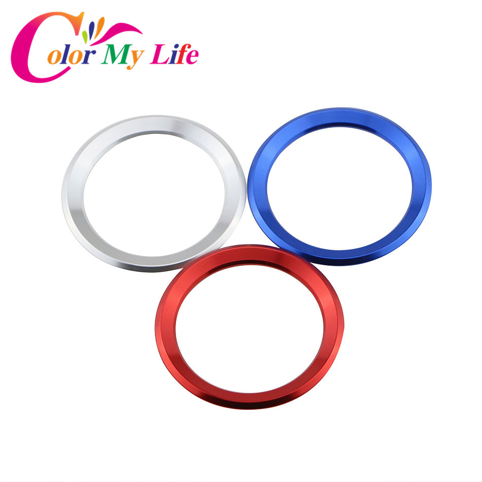 Color My Life Car Styling Decoration Ring Steering Wheel Circle Sticker For BMW M3 M5 E36 E46 E60 E90 E92 X1 F48 X3 X5 X6