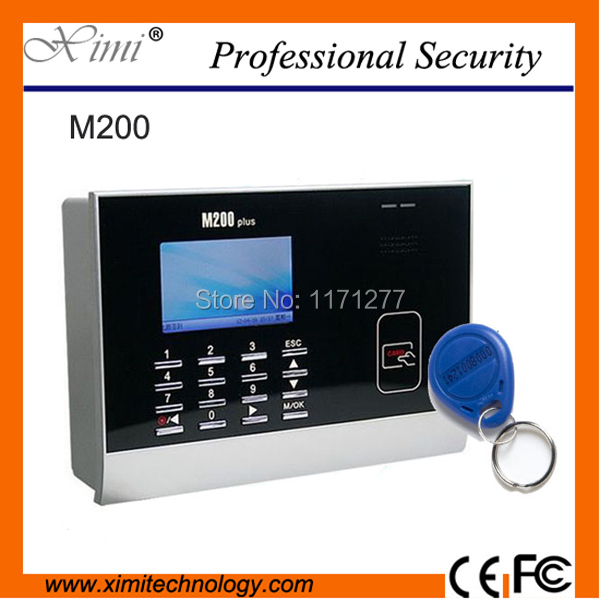 Free shipping card time attendance machine  record TCP / IP communication ID card reader M200 smart card time recorder clock