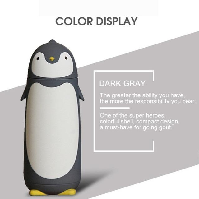 Cute Cartoon Penguin Vacuum Water Bottle