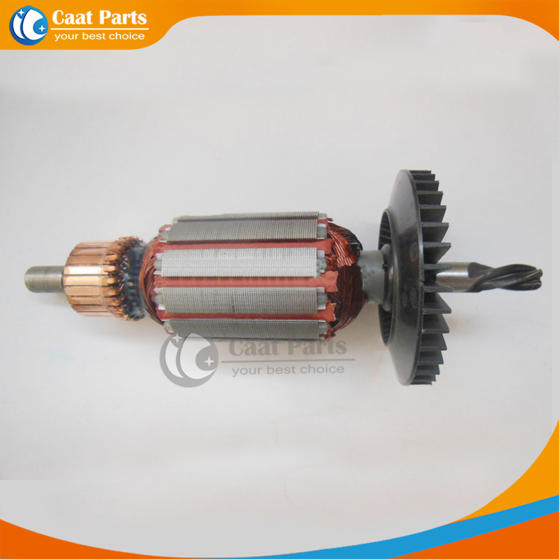 Free shipping! AC 220V 4 -Teeth Drive Shaft Electric Hammer Armature Rotor for Bosch GBM13RE GSB13RE GBM13 GSB13,High-quality! ac 220 240v armature motor rotor replacement for bosch gbm500re gsb450re psb400re gsb13re gbm400re armature parts engine