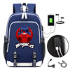 Miraculous Ladybug Backpack With USB Charging Port And Lock Headphone Interface For College Student Work Men