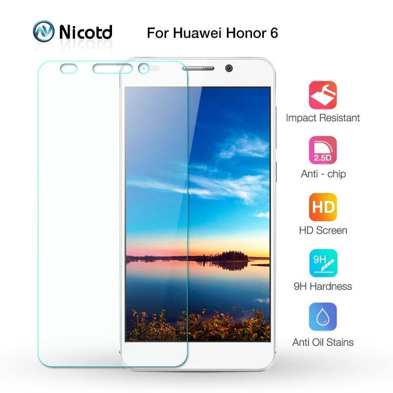 Film en verre trempé avant antichoc 0.26mm pour Huawei Honor 6 double Honor6 H60-L04 protecteur d'écran HW-H60-J1
