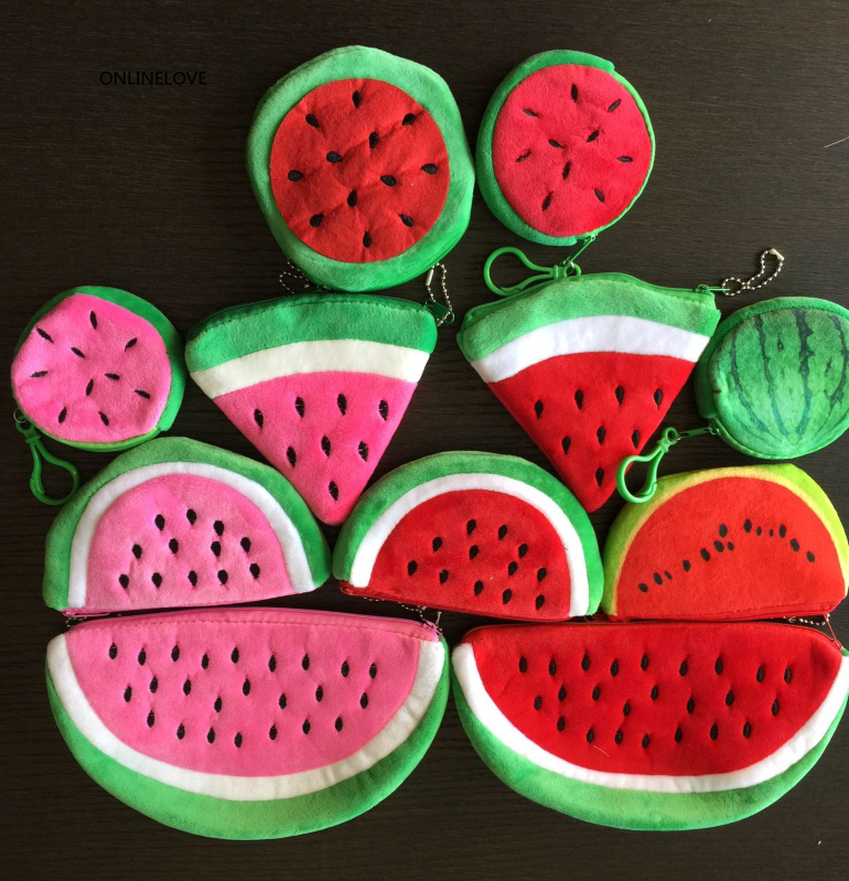 10cm Plush Cotton Coin Purse ; Pocket Coin Bag Kid Key Wallet Pouch ; Hand Bag Pouch Wallet New Novelty 4fruits Lemon Etc