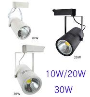 AC90 260V Led Spot Track Light 30W Led Shop Lighting White/Black Aluminum Body Free Shipping