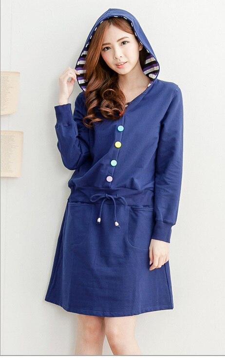 Emotion Moms Одежда для кормящих матерей платье для беременных Одежда для беременных кормящих платье женская одежда для беременных Распродажа - Цвет: Синий