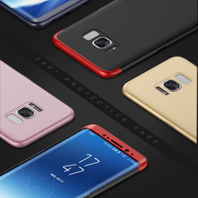 360 Full Protection Case For Samsung Galaxy S8 S8 Plus S7 Edge Hard PC 3 in 1 Case Cover For Galaxy S8 S7 Case Capa