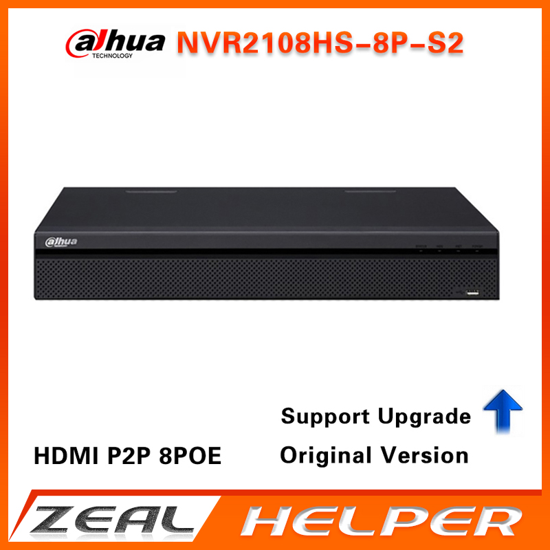Dahua DVR NVR2108HS-8P-S2 8CH 8 POE 6MP H.264 6TB Capacity For Dahua IP Camera