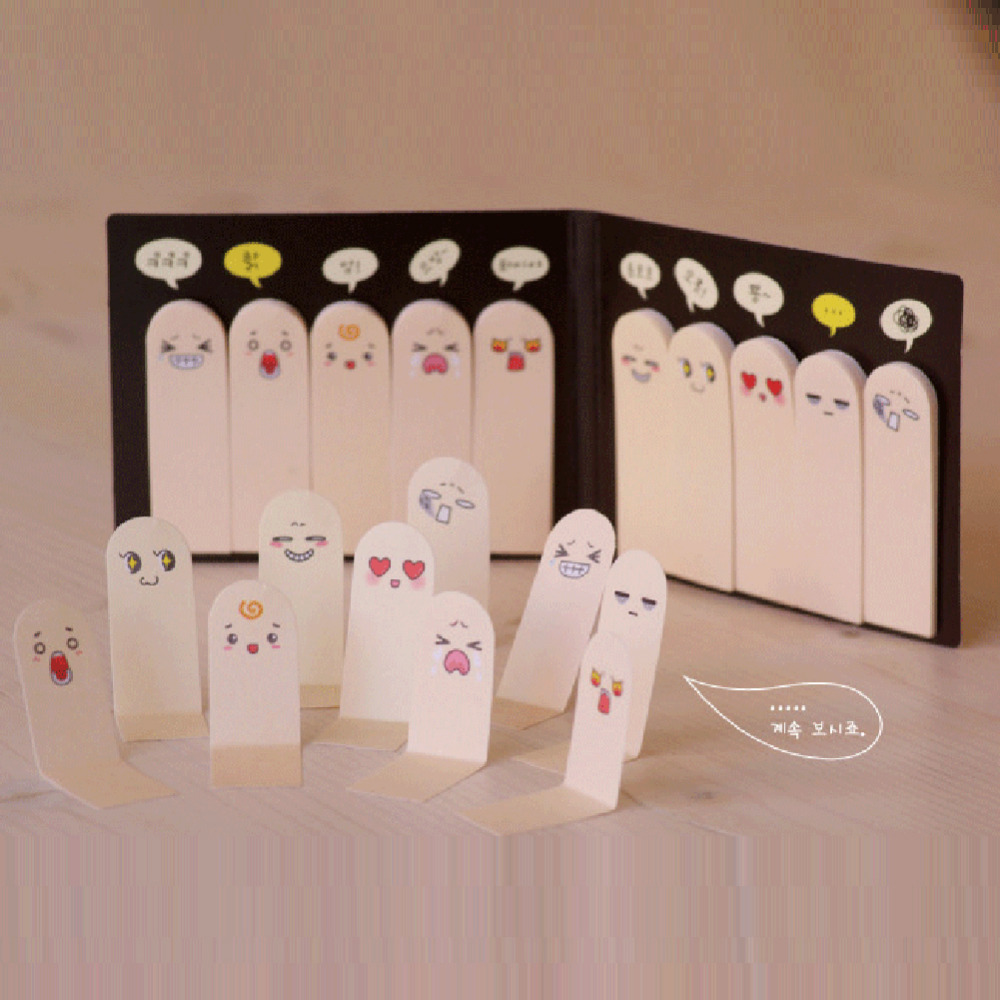 Cute Creative Finger Type Sticky Note Pad Bookmark Finger Shape Memo Pad Note Paper Sticky Drop Shipping