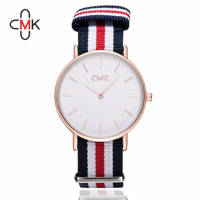 2018 Luxury Brand Clock women watches Draw strap Sports Quartz Watch Casual Coup