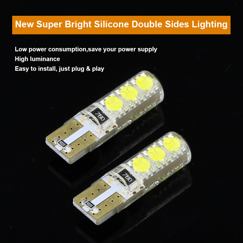 2 x T10 W5W T16 LED Parkir Lampu Sidelight Marker Lamp Bulb Canbus - Lampu mobil - Foto 2