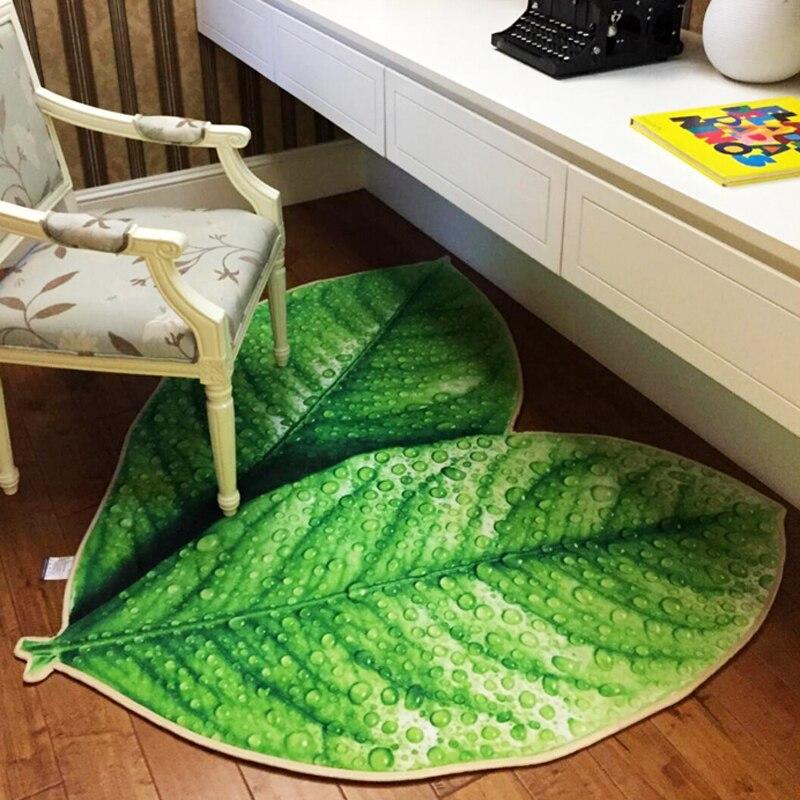 Creative vert feuilles tapis de sol salle de bain bébé ramper antidérapant salon chevet tapis extérieur