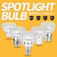 E27 LED Bulb GU10 220V Led Lamp E14 Bombillas Led MR16 Spot Light B22 SMD 2835 Lampara For Home Spotlight 48 60 80LEDs 4W 6W 8W стоимость