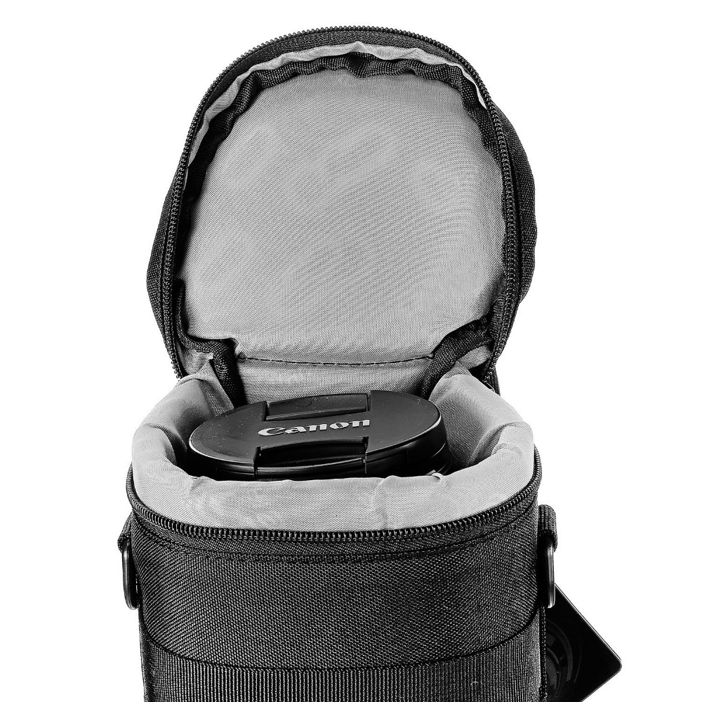 Neewer NW-L2070 Black Padded Water-Resistant Lens Pouch Bag with Shoulder Strap for 70-200mm Lens,Such as Canon 70-200/2.8IS