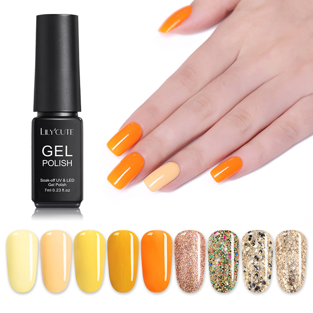 LILYCUTE Canary Yellow Orange UV Gel
