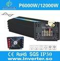 6000 W Off Grid DC 12 V 24 V 48 V NAAR AC 100 V-240 V Omvormer