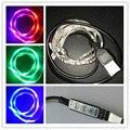 0.5-2 M USB Retroiluminación del TELEVISOR Sesgo de Iluminación 5050 Luces de Tira del LED Cinta Impermeable Mini RGB Pantalla Plana LCD moto Coche Decoración. Juegos de luces