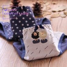 New Cute Lamb Girls Underwear Freshness Polka dots Printed Cotton Panties Mid-Rise Briefs C871