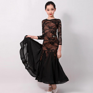 Image 2 - standard ballroom dress for kids ballroom dancing dress girls waltz dress fringe dance wear Spanish dress red Spain kids clothes