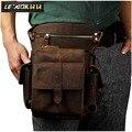 Мужская Дизайнерская Повседневная сумка-мессенджер из натуральной кожи, сумка-слинг, Многофункциональный модный ремень, сумка-капля, мягка...