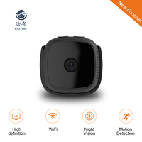 FAIYOU C9 Small WIFI Camera IP MINI Camcorder DV Control By Phone Computer for Home Security HD DVR 720P H.264 .MP4 Video Cam