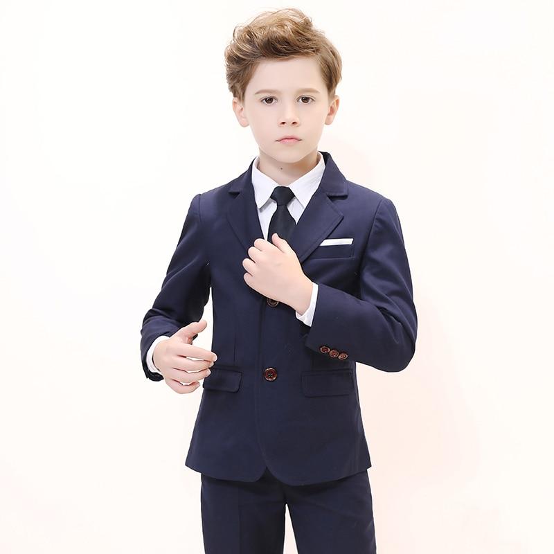 Boys Suits For Weddings Kids Blazer Suit For Boy Costume Enfant Garcon Mariage Jogging Garcon Blazer Boys British styleTuxedo L2 3