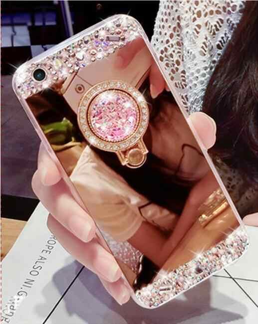 Чехол для телефона для samsung Galaxy Note 9 A6 A8 плюс J2 Pro J4 J6 J8 2018 силиконовый чехол новый роскошный кольцом-держателем Мягкий, зеркальный, из ТПУ чехол