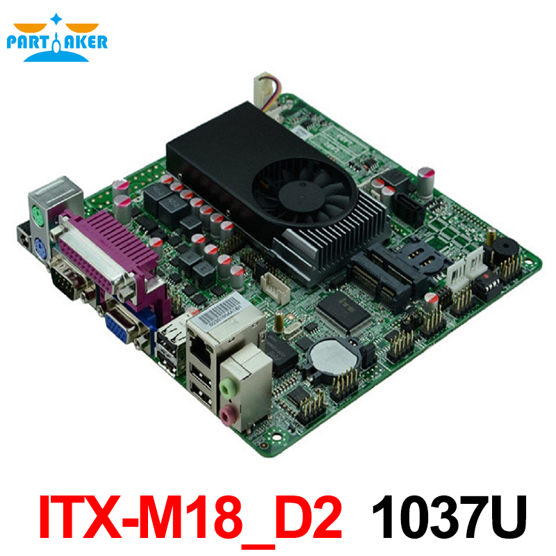 Mini Itx industrial motherboard 1037U DC 12V Dual 24bit LVDS Motherboards POS Machine industrial Mini ITX-M18_D2 used original for onda h81ipc one machine mini itx mini industrial motherboard 12v msata lvds com usb3