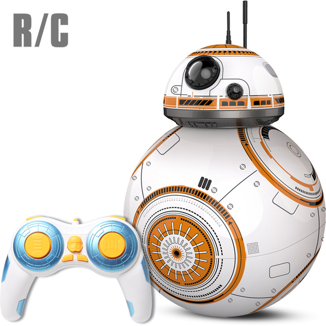 US $41 31 |Upgrade BB 8 Ball Star Wars RC Droid Robot 2 4G Remote Control  BB8 Intelligent With Sound Robot Toy For Kids Model Action-in Action & Toy