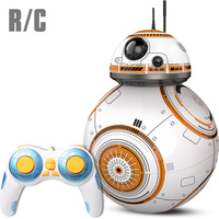 Upgrade BB 8 Ball Star Wars RC Droid Robot 2.4G Remote Control BB8 Intelligent With Sound Robot Toy For Kids Model Action