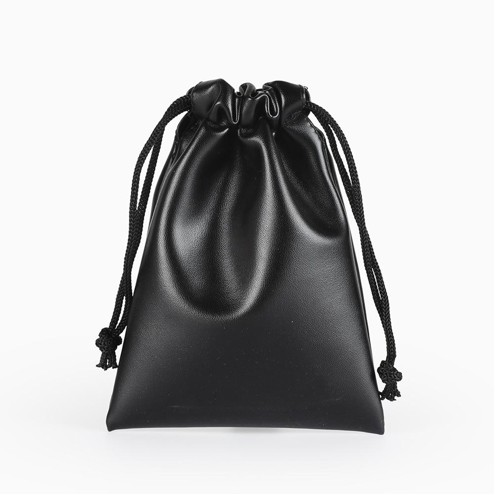 2pcs/Lot 11*15cm Custom Logo Print Fashion Jewelry Packaging Bag Leather Storage Bag Drawstring Bag For Wedding Candy Gifts