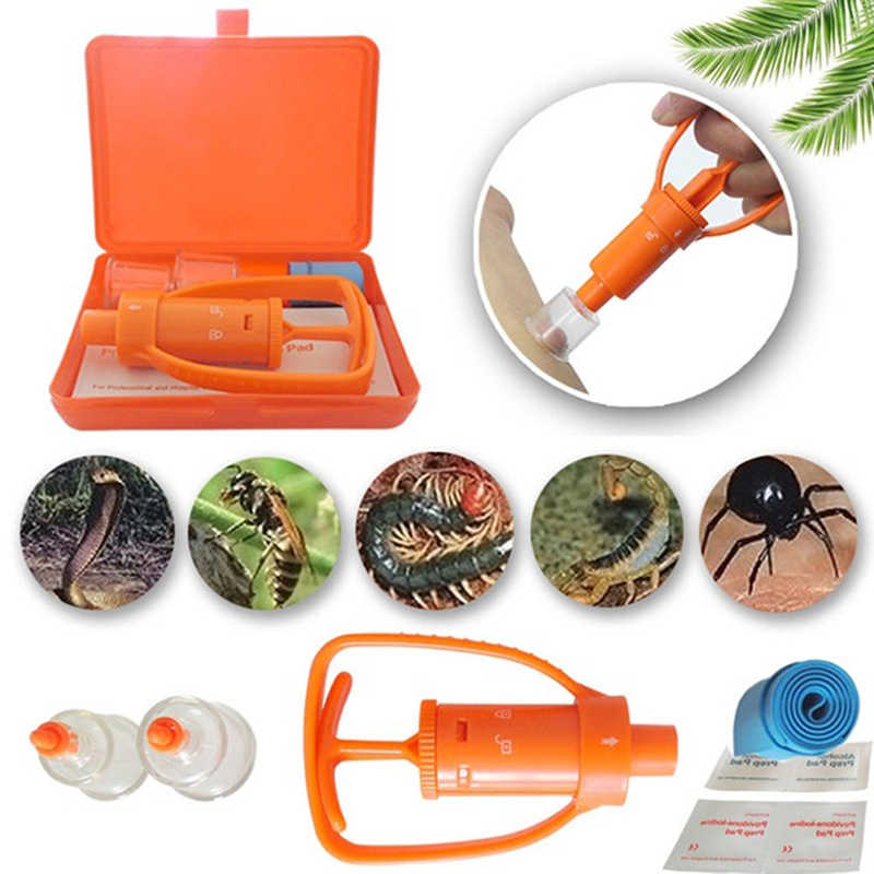 The Extractor Pump Kit Bite Sting Kit Venom Suction Insects Snakes Cups Surxx48