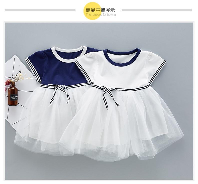 QAZIQILAND Zomerjurk met babymeisje 1 jaar Verjaardag feestjurk Witte - Babykleding - Foto 3
